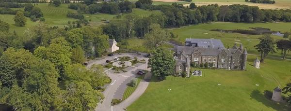 4-star Meldrum House sits in 240-acres of stunning Aberdeenshire countryside.